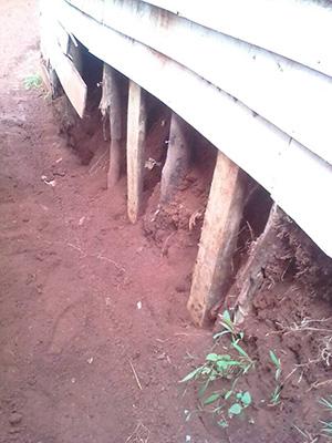 Earthquake damage to school in South Kivu